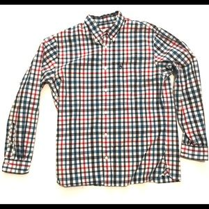 Brooks Brothers Red Blue Plaid Button Up Shirt XL